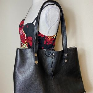 Calvin Klein Black Tote Purse Large NEW
